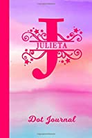 Julieta Dot Journal: Personalized Custom First Name Personal Dotted Bullet Grid Writing Diary | Cute Pink & Purple Watercolor Cover | Daily Journaling for Journalists & Writers for Note Taking | Write about your Life Experiences & Interests