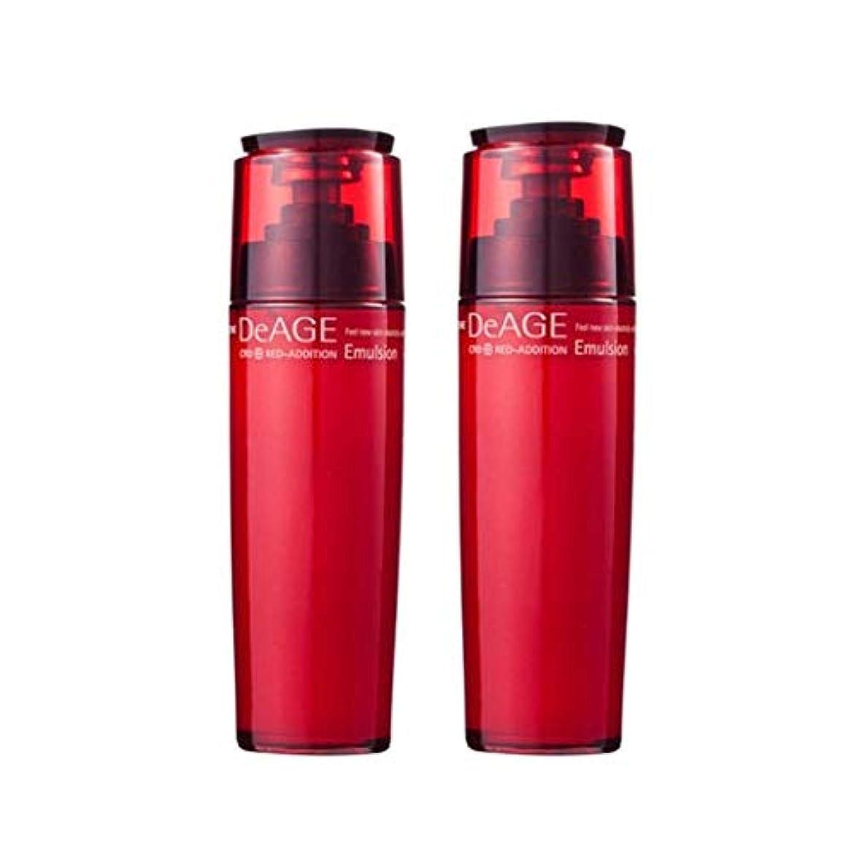ブロックする男記憶チャムジョンディエイジレッドエディションエマルジョン130ml x 2、Charmzone DeAGE Red-Addition Emulsion 130ml x 2 [並行輸入品]