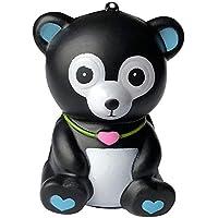 Oldeagle かわいいクマの香り付き 低反発圧力スクイーズ ストレス解消おもちゃ 子供と大人用 10x7.5x6.5cm/3.94x2.95x2.56inches ブラック 84374041