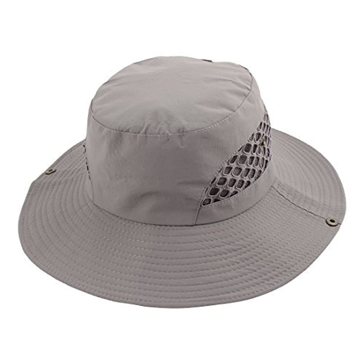 DealMux漁師アウトドアフィッシングハイキングの旅行クライミングハンティングつば広帽子帽子日バケットハットメッシュ