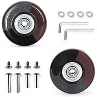 KINPAR 50MM Luggage Wheels,Luggage Suitcase Wheels Kit,Axles 30MM,35MM,Deluxe Repair