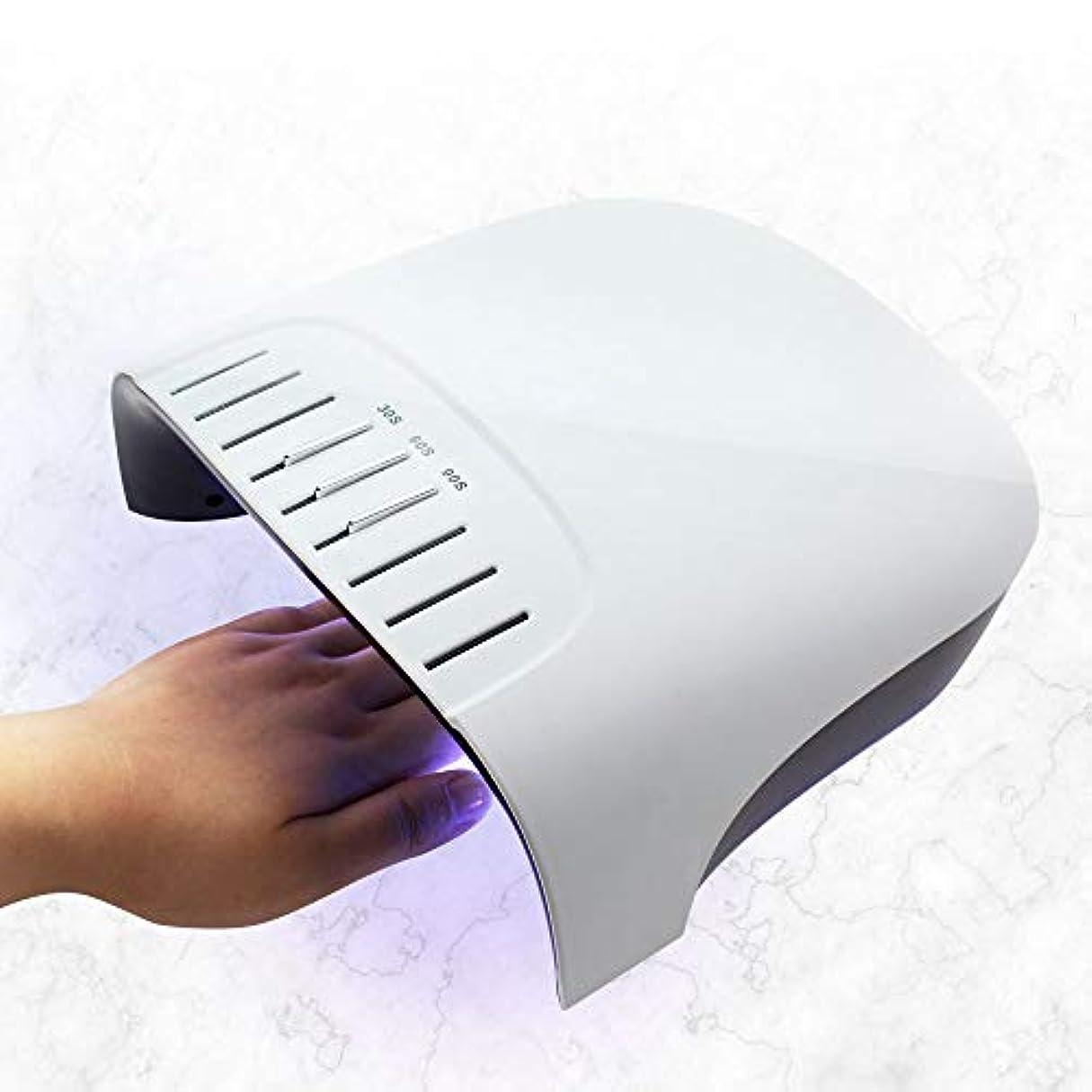 資格貫通飢LCDタイマーとボタンでアップグレードされた60W LEDネイルドライヤージェルポリッシュネイルアートツール用UV LED紫外線ネイルランプ36pcs