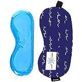 SUPVOX 睡眠マスク ブラインダーパッチアイシャドーコールド/ホットゲル調節可能なストラップ