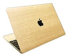 (マックスキン) MacSkin 木目調 MacBook 12インチ Retina スキンシール 【全3色】 (ナチュラル)