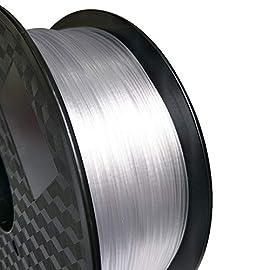 弊社LONGSELLは3Dプリンターフィラメントをプロフェッショナル研究開発機構と協力体制を組んで生産しております、純正プレミアムPETG原材料を使ってしており、プロセスも厳しくコントロールされておりますのでご安心してご利用可能です。なお、弊社製品は他社製品と比較し強度及び良い柔軟性があることが特徴です。よって高耐性が期待出来ます。 万が一品質の問題がありましたら、いつでも弊社までご連絡して下さい。    LONGSELL 3Dプリンター用 PETG 透明 素材 フィラメント1.75mm 1kg...