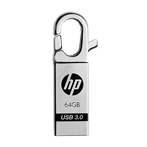 HP USBメモリ 64GB USB 3.0  クリップフック 金属製 耐衝撃 防滴 防塵 のフラッシュドライブ x752w HPFD752W-64