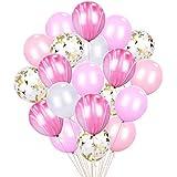 HIGHPARTYパーティー用の紙吹雪風船[12インチ、50+1枚組]ベビーシャワーの誕生日の結婚式の提案NYEパーティー装飾サプライ - ピンクのスーツ