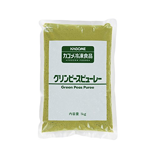 【冷凍】 業務用 グリンピース ピューレー 1kg 冷凍野菜 グリーンピース カゴメ