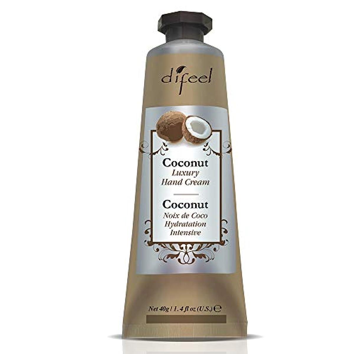 六スープ家庭Difeel(ディフィール) ココナッツ ナチュラル ハンドクリーム 40g COCONUT 11COC New York 【正規輸入品】