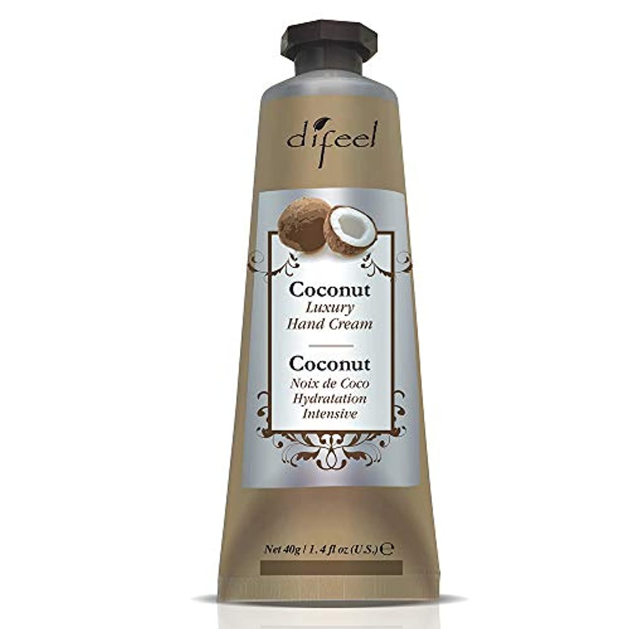 寸前着飾るシーンDifeel(ディフィール) ココナッツ ナチュラル ハンドクリーム 40g COCONUT 11COC New York 【正規輸入品】
