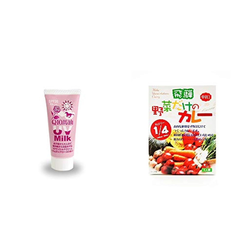 光沢のあるジュニアライター[2点セット] 炭黒泉 Q10馬油 UVサンミルク[ブルガリアローズ](40g)?天領食品 野菜だけのカレー 【中辛口】 (1食分)