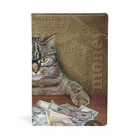 メイクマネー猫 ブックカバー 文庫 a5 皮革 おしゃれ 文庫本カバー 資料 収納入れ オフィス用品 読書 雑貨 プレゼント耐久性に優れ