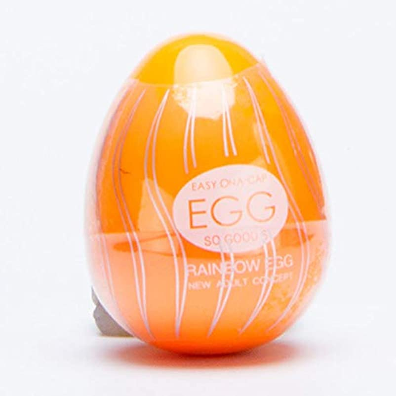 アンティーク光電軽減Rabugoo 大人のおもちゃ 男性の性のおもちゃの陰茎のマッサージャーの喜びのセックスレインボーエッグ オレンジ