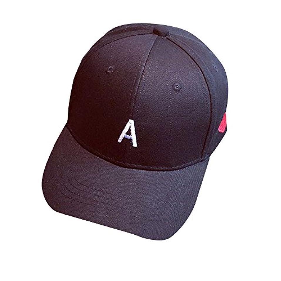 拾ううまくいけば震えRacazing Cap 文字刺繍 野球帽 無地 キャップ 夏 登山 通気性のある 帽子 ベルクロ 可調整可能 ヒップホップ 棒球帽 UV 帽子 軽量 屋外 Unisex Hat (黒)