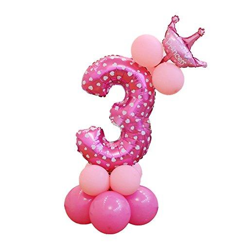 OUYOU アルミ風船 バルーン 数字バルーン 飾り付け 誕生日 ウェディング パーティー 組み合わせ 自由 DIY