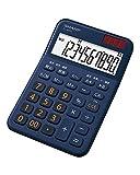 シャープ カラーデザイン電卓 10桁表示 ネイビー系 EL-M335-KX