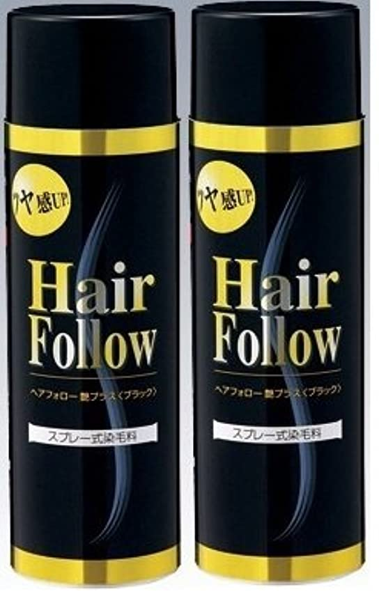 暴露する孤独経度NEW ヘアフォロー スプレー 艶プラスブラック スプレー式染毛料 自然に薄毛をボリュームアップ!薄毛隠し かつら (2本)