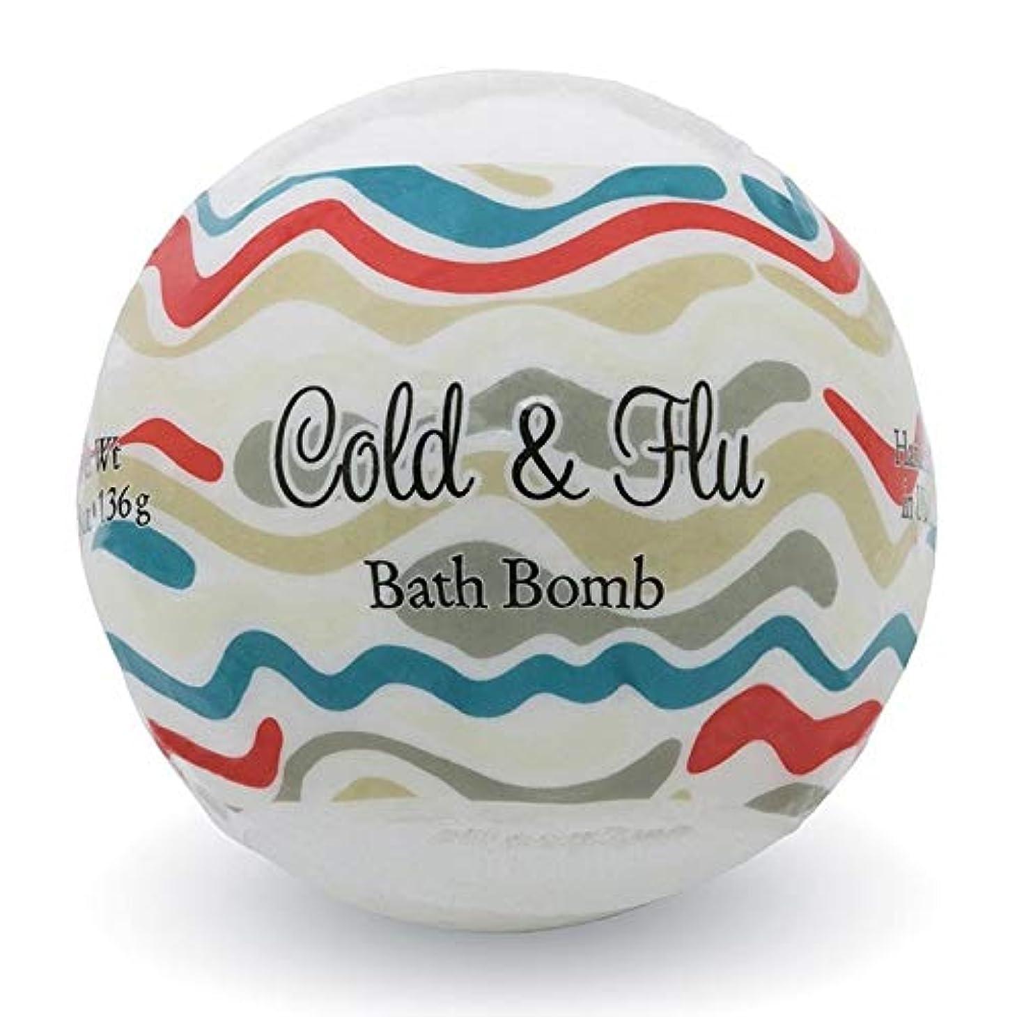 米国はい感性プライモールエレメンツ バスボム/コールド&フルー 136g シアバターとココナツ&アルガンオイル配合のお肌に潤いを与える発泡性入浴剤