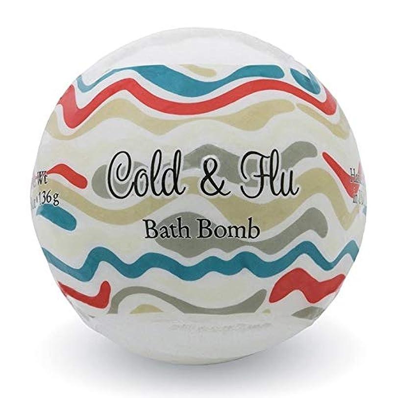 適用済み水個人的なプライモールエレメンツ バスボム/コールド&フルー 136g シアバターとココナツ&アルガンオイル配合のお肌に潤いを与える発泡性入浴剤