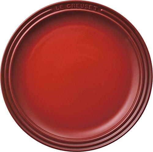 ル・クルーゼ(Le Creuset)  皿 ラウンド・プレート 23 cm チェリーレッド 耐熱 耐冷 電子レンジ オーブン 対応  【日本正規販売品】