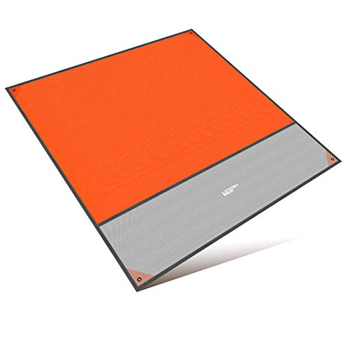 VUP レジャーシート 防水 断熱 2m大幅 2-6人 軽量小型 収納袋付き 持ち運びやすい メーカー直営店 3年間保証 グリーン&オレンジ