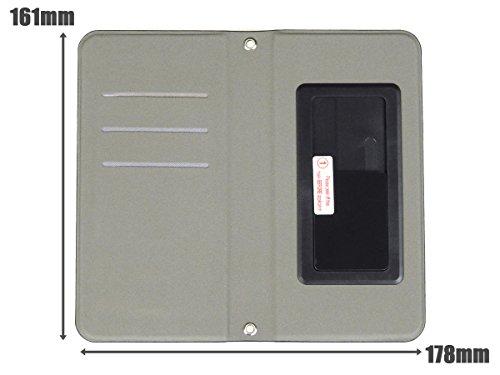 スマートフォン手帳型ケース 機種フリー 6インチ以下対応 ブラック&ブラウン レザーケース レザー カード収納 マグネット式 iphone6 iphone7 plus xperia aquos galaxy等いろいろ対応