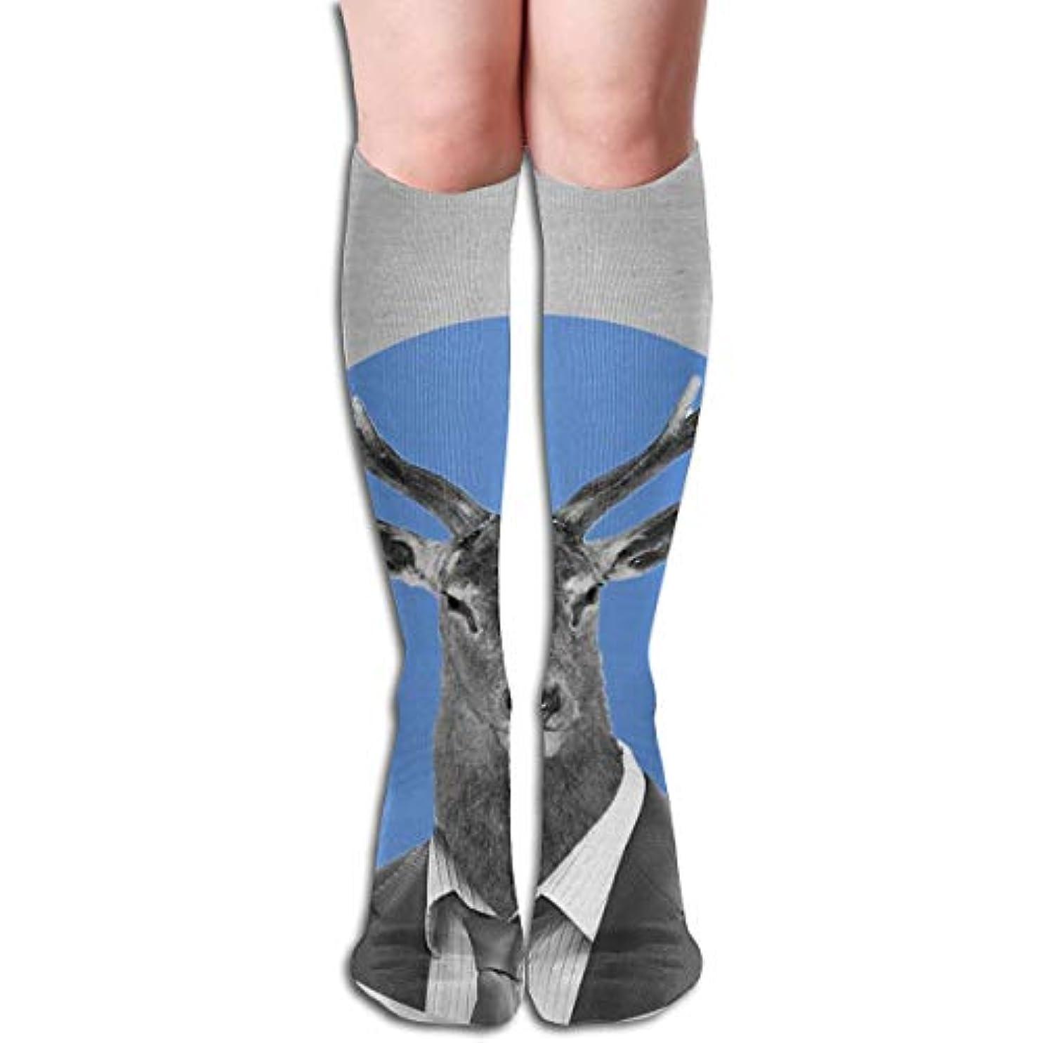 自体王室狂人Mr. Deer Compression Socks Women&Men 15-20 mmHg Compression Stockings Best for Running、Medical、Travel