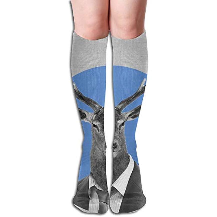 小川うなり声銀Mr. Deer Compression Socks Women&Men 15-20 mmHg Compression Stockings Best for Running、Medical、Travel
