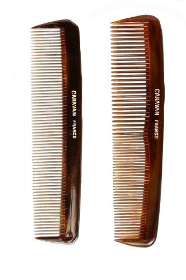 定期的ドキドキ癒すCaravan Tortoise Set Of 2 Shell Comb, Pocket Teeth [並行輸入品]