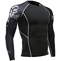 TIANYUTU Long-Sleeved T-Shirt Sports Men's Running T-Shirt Fitness Sportswear Sports Men's Compression Sportswear