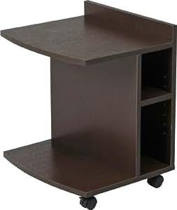 不二貿易 マルチ サイド ソファ テーブル ローブラウン 78196