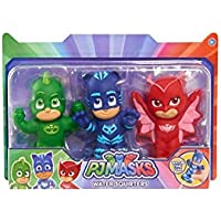 Disney Junior PJマスクGekko、Catboy & Owlette Bath Toy 3 - Pack – Water Squirters