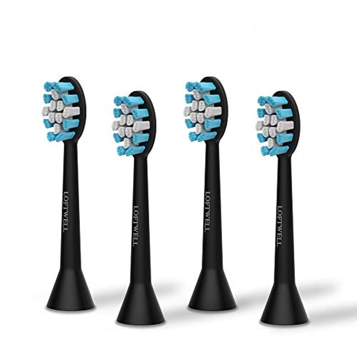 最大限農業ショートloftwell 電動歯ブラシD5とD9通用替えブラシ 替えブラシ 4本入れ