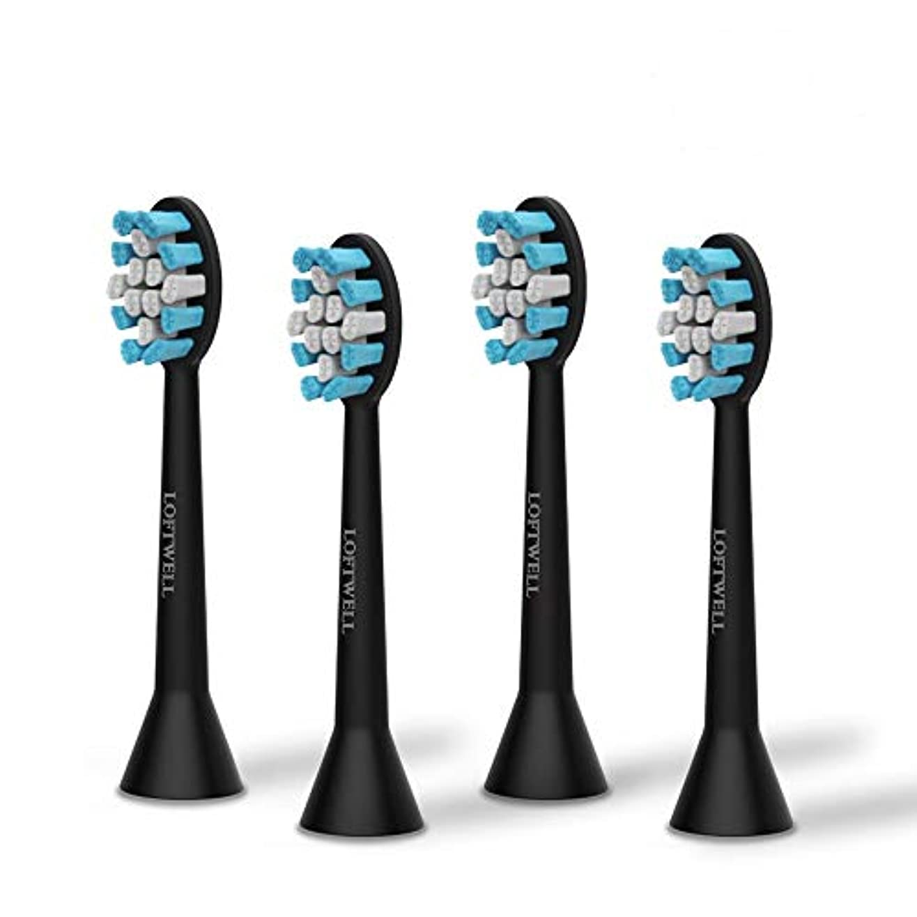 見捨てる脈拍クローンloftwell 電動歯ブラシD5とD9通用替えブラシ 替えブラシ 4本入れ