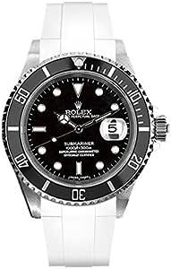 [ラバービー] RubberB ラバーベルト ROLEXサブマリーナ(Ref.14060以外/ノンセラミック)専用ラバーベルト(尾錠付き)(ホワイト)※時計は付属しません(Watch is not included)[並行輸入品]