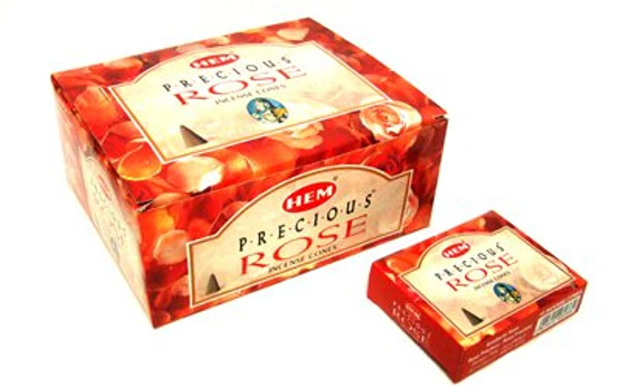 八百屋苦致死HEM(ヘム) プレシャス ローズ香 コーンタイプ Precious Rose CORN 12箱セット