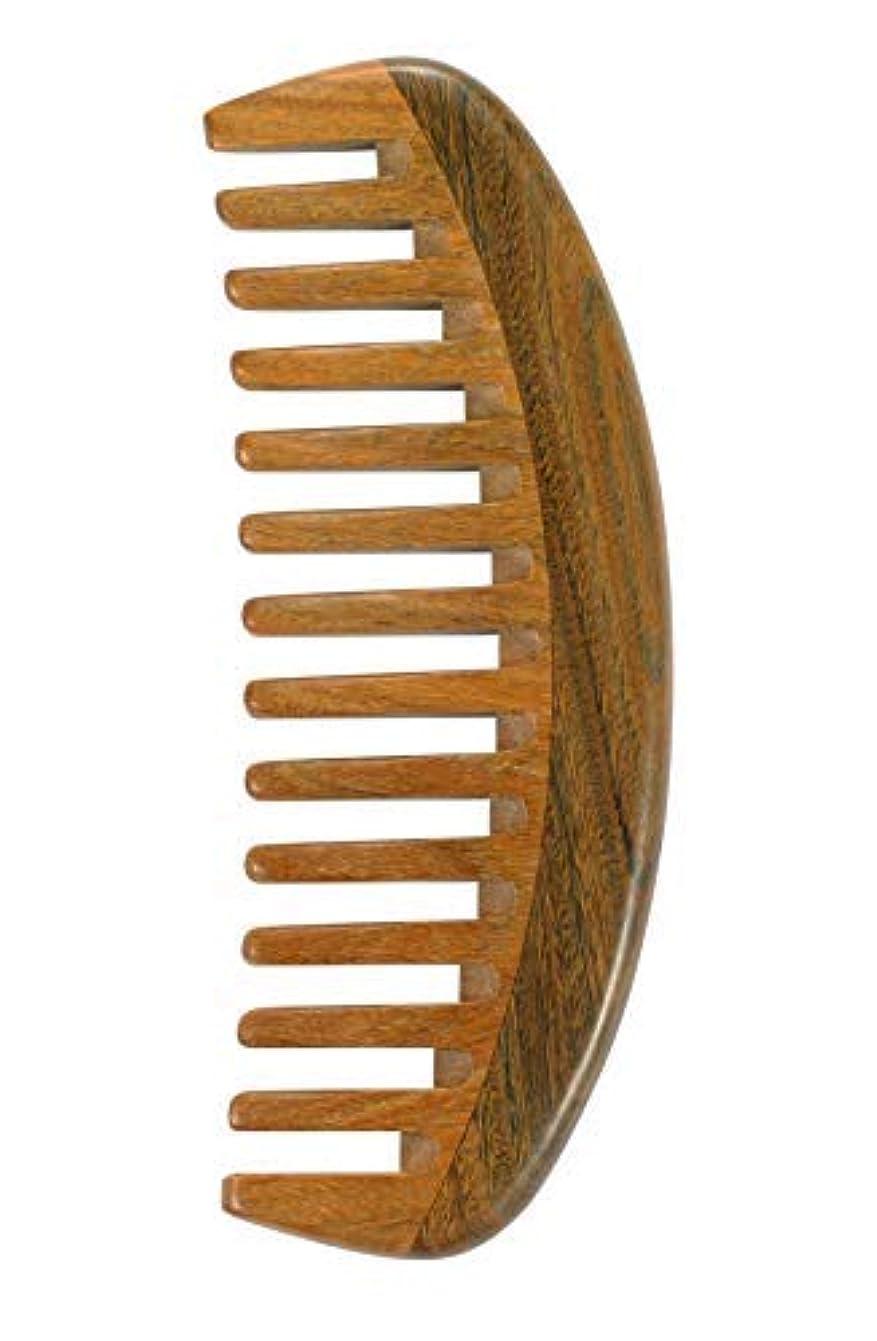 穀物ラウズだますLouise Maelys Sandalwood Wide Tooth Hair Comb for Detangling - Anti Static Wooden Comb for Curly Thick Hair [並行輸入品]