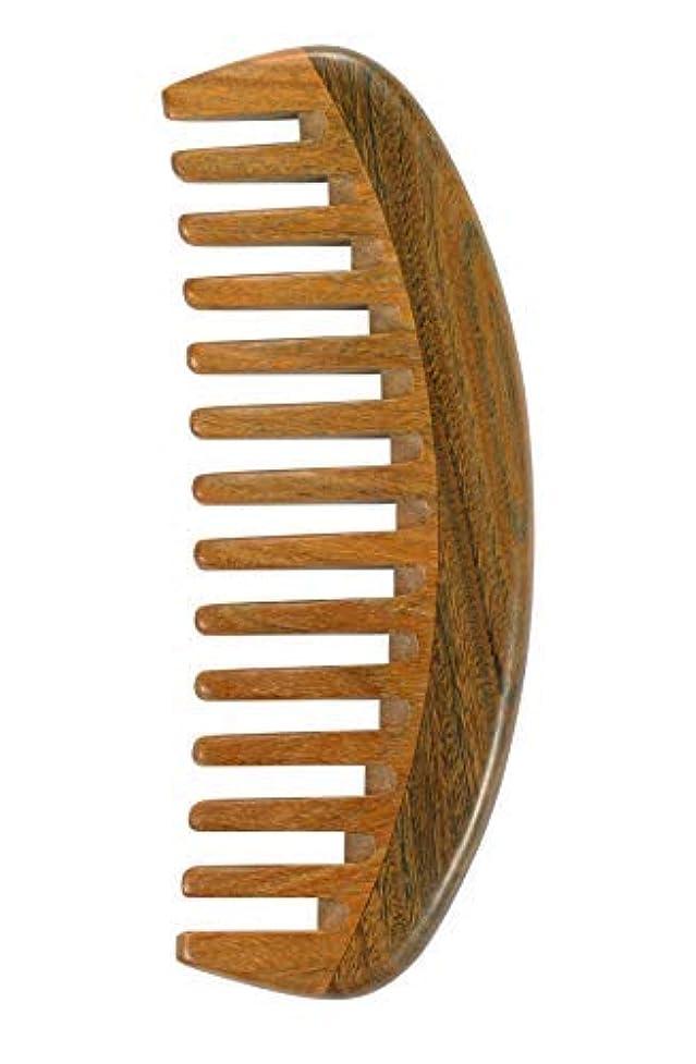 ピカリング混合ばかげたLouise Maelys Sandalwood Wide Tooth Hair Comb for Detangling - Anti Static Wooden Comb for Curly Thick Hair [並行輸入品]