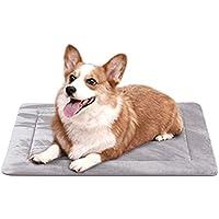 Hero Dog ペットベッド 犬 ペットマット クッション 防寒 滑り止め 洗える フカフカ 暖かい(グレー S)