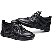 Women's Casual Shoes New Spring Leather Sports Shoes Lace-Up Soft-Soled Shoes Low-Top Sports Shoes Athletic Shoes White Black,B,36