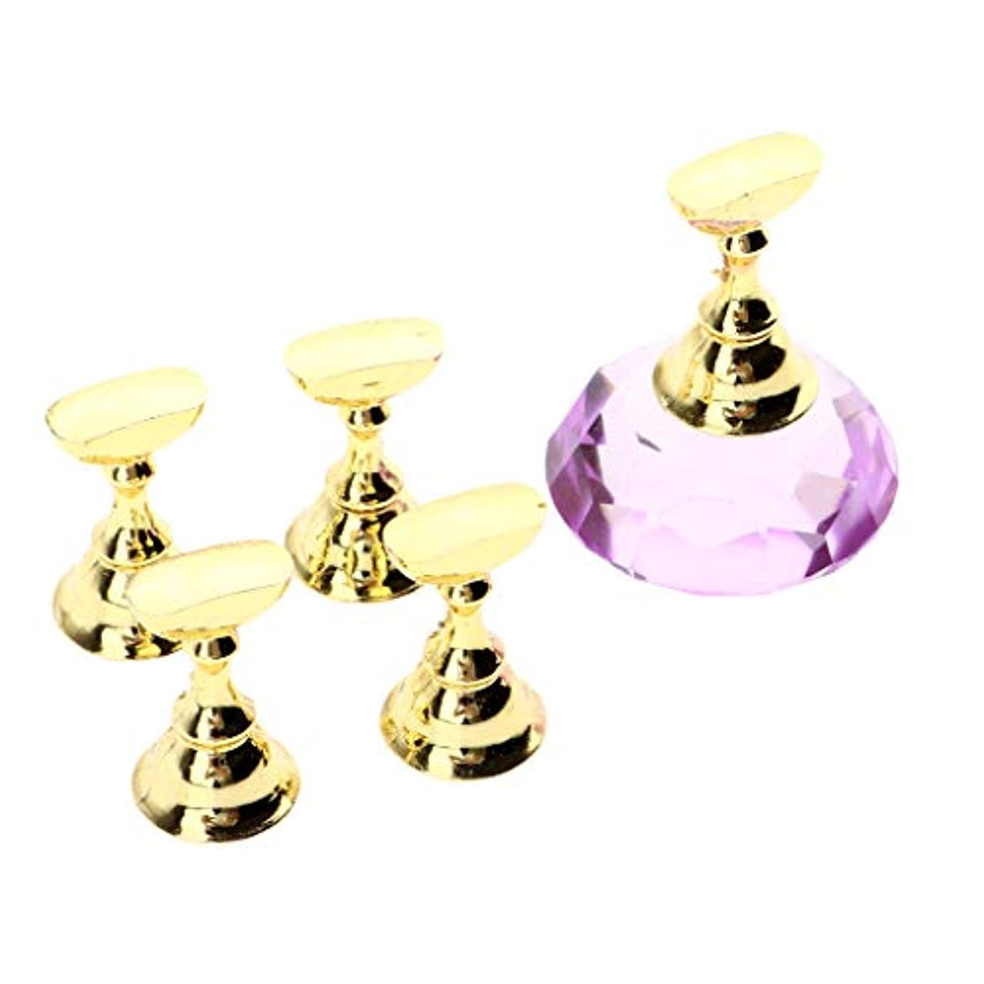 コンテンポラリー失効葬儀Toygogo ネイルアート ネイルチップ ディスプレイ スタンド 展示 ホルダー ネイルサロン 全2色 - 紫