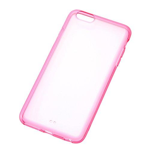 iPhone6 Plus/6s Plus カラフルソフトシェルケース クリアレッド RT-P8CC2/TR