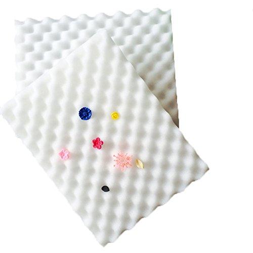 funnytoday365?2pcs /セットシェーピングスポンジパッドスポンジパッドフォンダンケーキチョコレート砂糖花乾燥Foam Wave Mat Decorating耐熱皿ツール金型