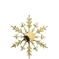シャインスノーフレーク(L)(1ケ/パック)(ゴールド)【クリスマスオーナメント(雪)】