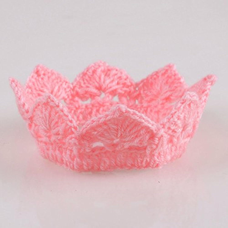 ベビーハット 赤ちゃん帽子 撮影道具 可愛い ファッション 王冠 0-6ヶ月 ピンク