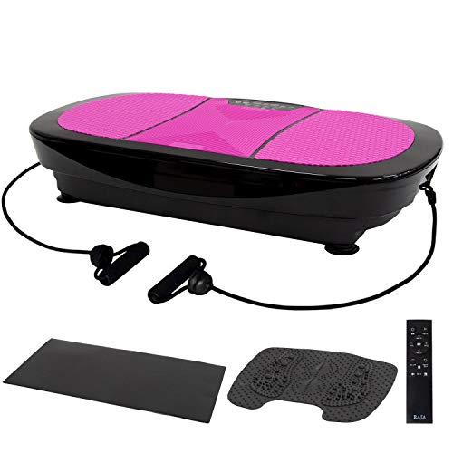 [製品保証付き] Ms. RAJA 3D 振動マシン フルセット 振動調節99段階 15モード 3D FIT SLIMMER フィットネス ぶるぶるマシン シェイカー ダイエット トレーニング 器具 グッズ PSE認証済 振動 マシン (3D ブラック×ピンク)