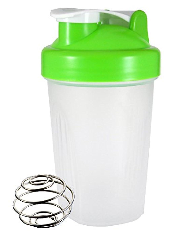 侵入する排泄する軽減するノーブランド シェーカーボトル 400ml (グリーン)