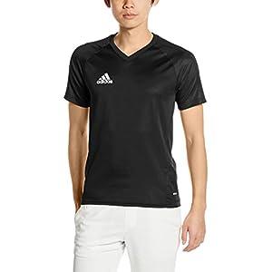 (アディダス)adidas サッカーウェア TIRO17 トレーニングジャージー 半袖 BRR66 [メンズ] AY2858 ブラック/ダークグレー/ホワイト J/L