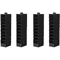 IKEA オーガナイザー クローゼット収納 吊り下げ スキューブ ブラック (4個セット)
