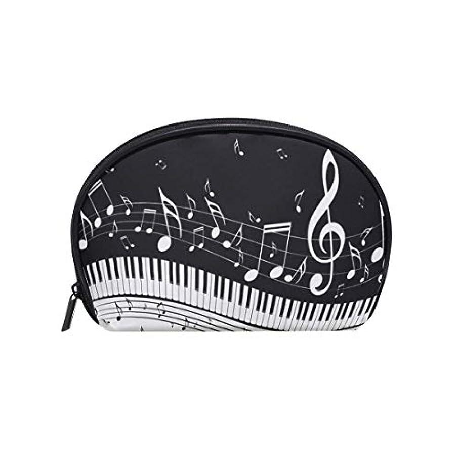 クリーク浸漬周り化粧ポーチ 化粧ポッチ 音符柄 ピアノ柄 音楽柄 ブラック バニティーポーチ 化粧袋 収納バッグ トイレタリーバ 旅行出張用 洗面用具 小物入れ